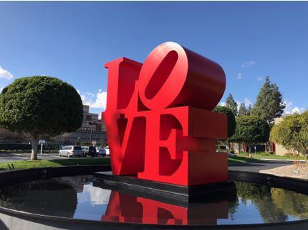 LOVE Sculpture at The Panda Restaurant Group Headquarters in Rosemead