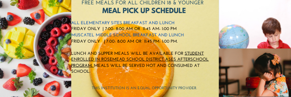 Meal Pick up Schedule