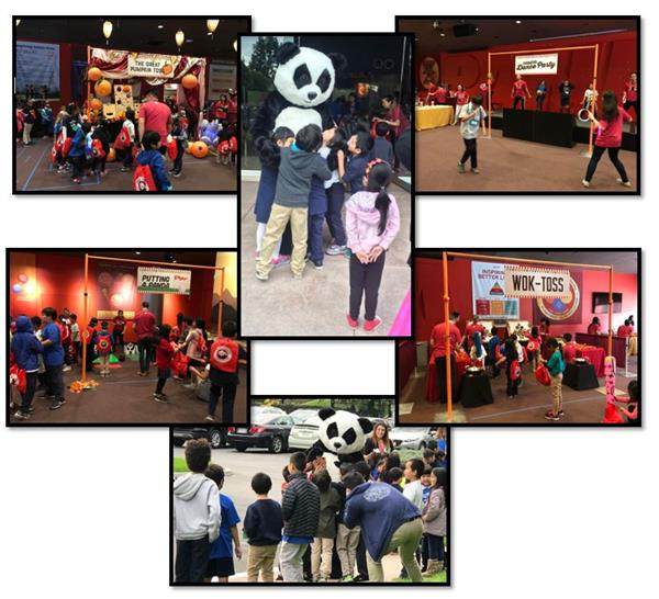 The Panda Cares recognition of Emma W. Shuey students and staff for achieving Lighthouse status